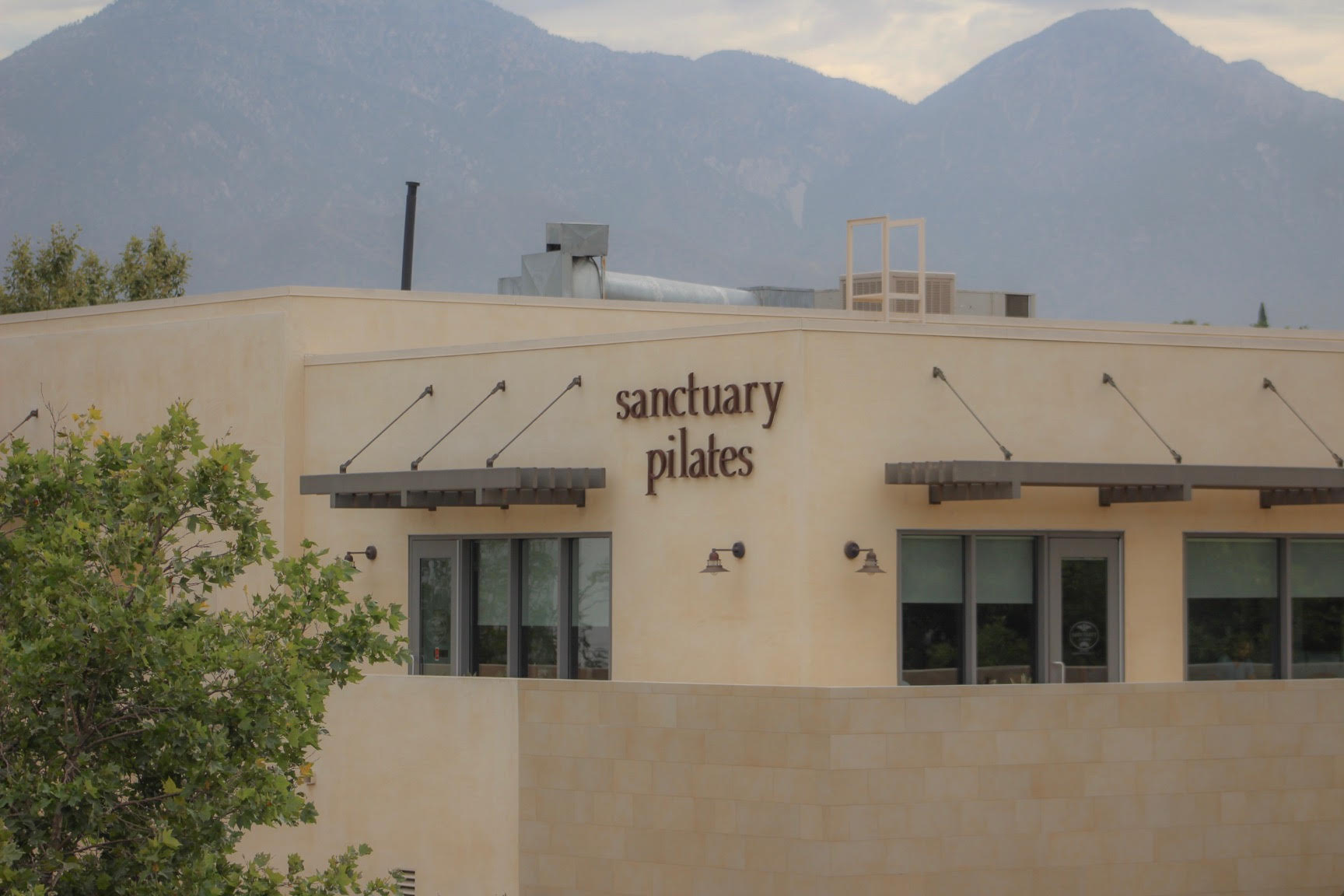 view of pilates studio in downtown claremont